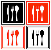 Set icons with kitchen ware — Stock Vector