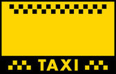 Advertise taxi background — Stock Vector
