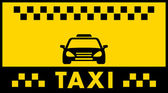 Taxi background with cab silhouette — Stock Vector