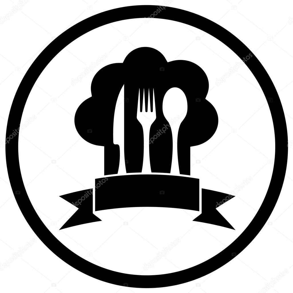 Chap u de chef com utens lios de cozinha vetor de stock for Utensilios de chef