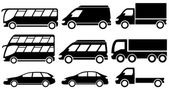 Set isolated transport icons — Stock Vector