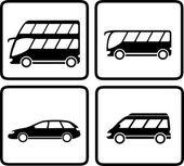 集的客运交通工具图标 — 图库矢量图片