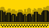 Yellow backdrop for city taxi — Stock Vector