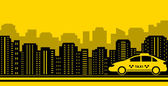 Taxi city background — Stock Vector