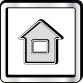 Convex house icon — Stock Vector