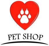 Pet shop symbol — Stock Vector