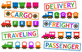 旅行および貨物輸送の列車 — ストックベクタ