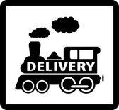 Train delivery icon — Stok Vektör