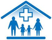 Family medicine icon — Stock Vector