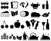 Set food objects — Stock Vector