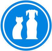 Pet blue icon — Stock Vector