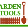 Landscaping icon with garden tools — Stock Vector #51755657