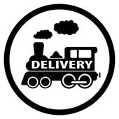 Moving train icon - delivery symbol — Stock Vector