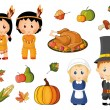 Illustrated set of thanksgiving icons — Stock Vector #13757168