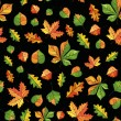 Vector pattern, autumn leaves - Stock Vector