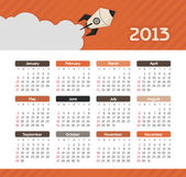 Vector calendar for 2013 — Stock Vector