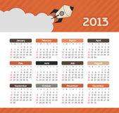 Vector calendar for 2013 — Stock Vector