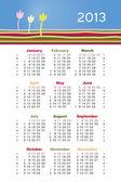 Calendario de vector para 2013 — Vector de stock