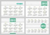 Calendar 2013 set — Stock Vector