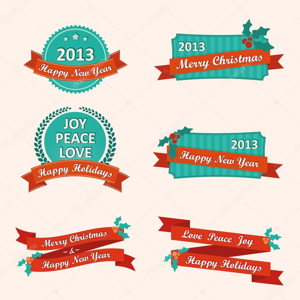 Vector image New Year set — Stock Vector #15014173