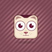 App ikon katt — Stockvektor
