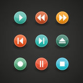 Media player buttons collection — Stock Vector