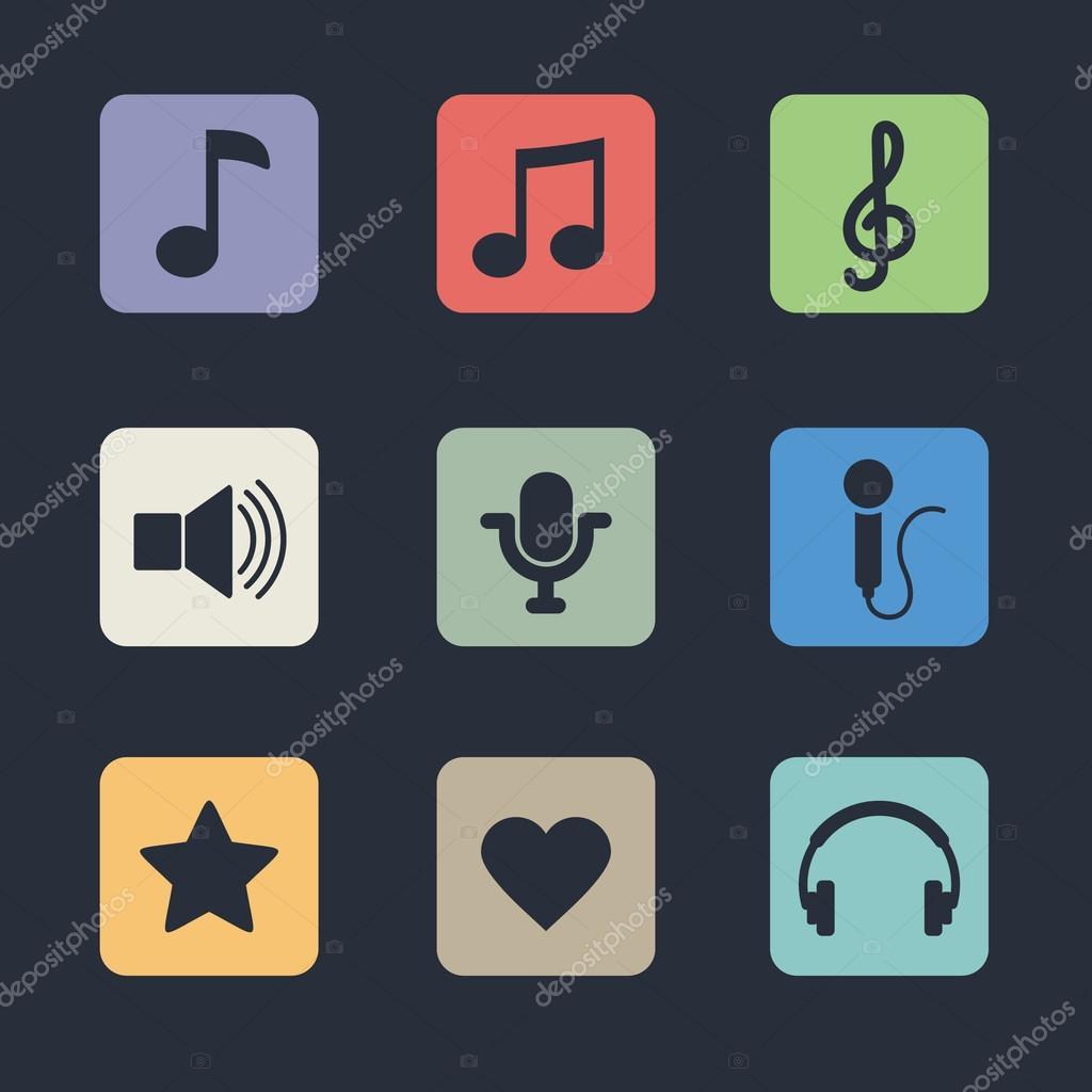 Скачать иконки музыкальных файлов