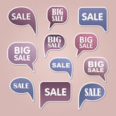 Text bubble SALE — Stock Vector