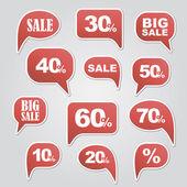 Text bubble SALE — Cтоковый вектор