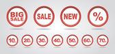 Etiquetas venta — Vector de stock