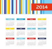 Calendar 2014 — Stock Vector