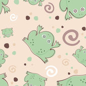 Frogs pattern — Stock Vector