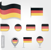 Germany icon set of flags — Stock Vector