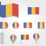 Romanian flag icon — Stock Vector