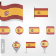 Spanish flag icon — Stock Vector #41703733