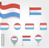Luxembourg flag icon — Stock Vector