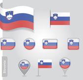 Slovenian flag icon — Stock Vector