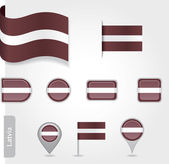 Latvian flag icon — Stock Vector