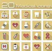 Medical vector icons set — Stock Vector