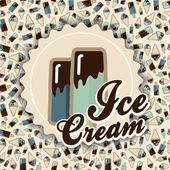 Summer card ice cream — Stock Vector