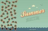 Summer card — Stock Vector