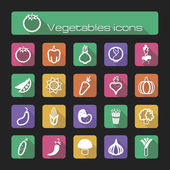 Icons set vegetables — Stock Vector