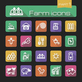 Farm icons part 1 — Stock Vector