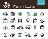 Farm icons part 2 — Stock Vector