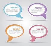 Conjunto de burbujas coloridas discurso — Vector de stock