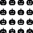 Set pumpkins for Halloween — Stock Vector #50487127