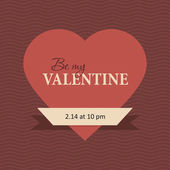 Happy Valentines Day lettering — Stock Vector