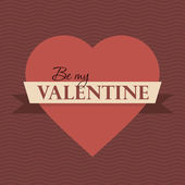 Happy Valentines Day lettering — Stok Vektör
