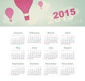 Calendar 2015 year with kite — Stock Vector