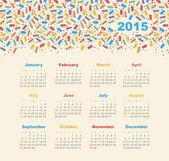 Calendar 2015 year with ice cream — Stock Vector